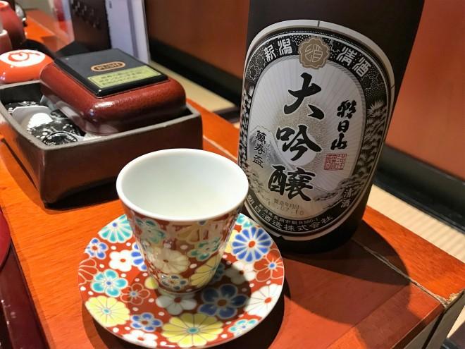佳肴あさひ山 朝日山萬寿盃 ランチタイム 日本酒 お試し グラス